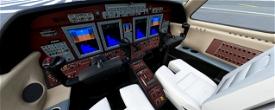 CJ4, Mahogany panel Image Flight Simulator 2020