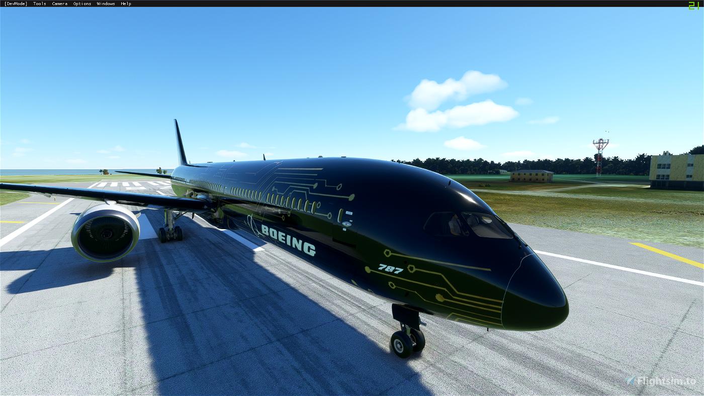 787-10 Dreamliner Sci-Fi/Circuit Board (4K Livery)