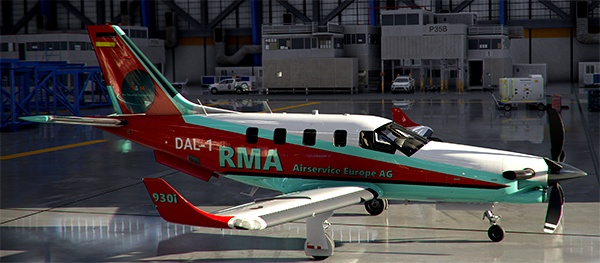 TBM 930 -- RMA - R&M Airservice Europe AG, Final Regular Liveries for Fly the World
