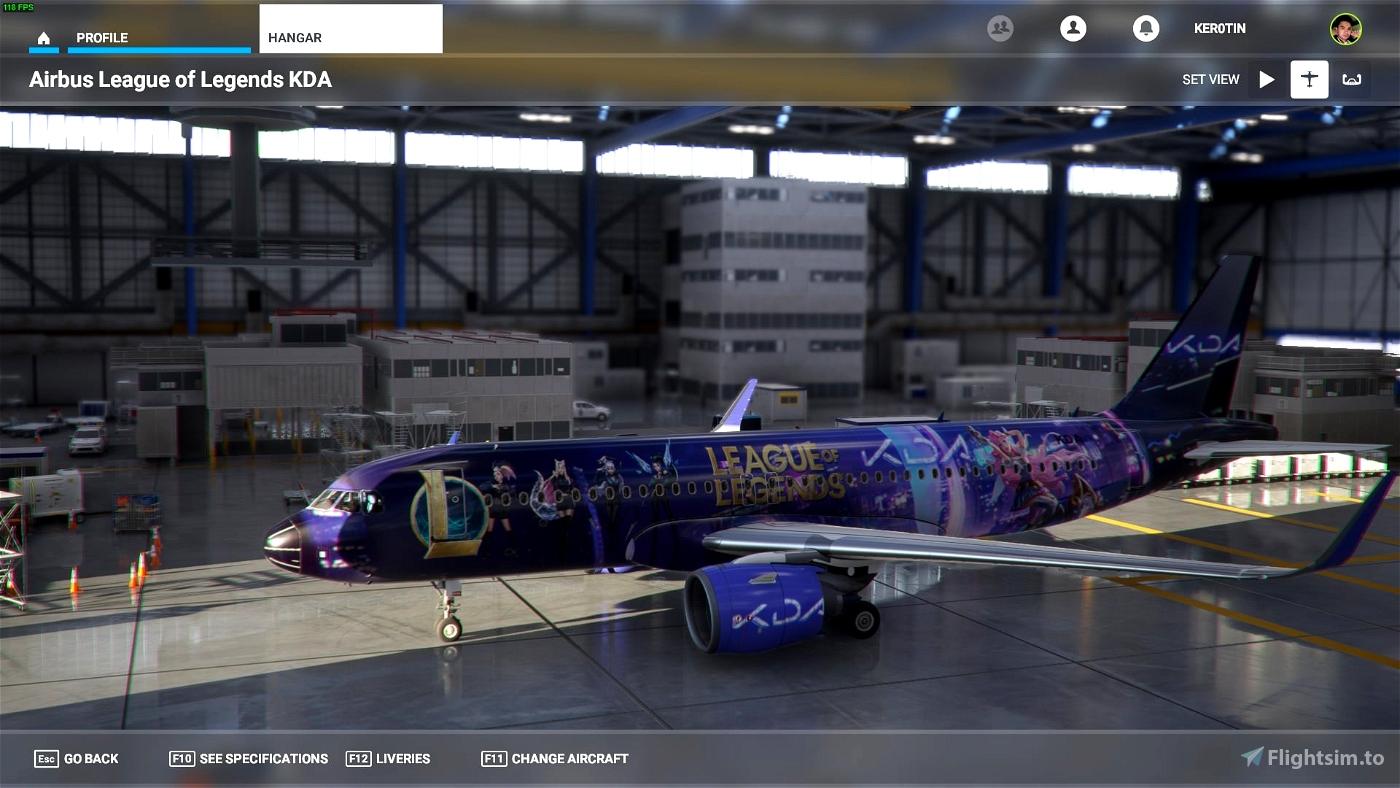 LoL KD/A Livery Flight Simulator 2020