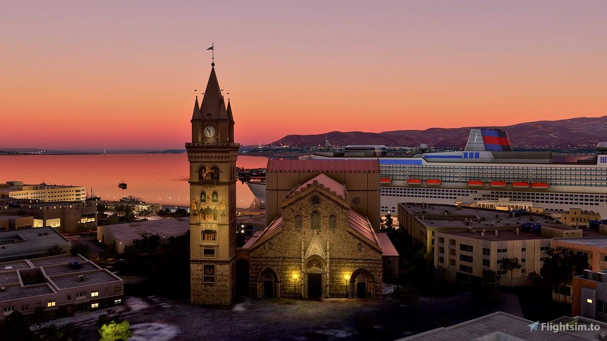 Messina, Sicily, Italy. City and Province Landmarks. Flight Simulator 2020