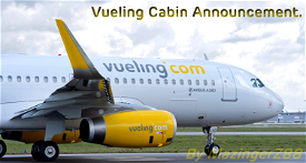 Vueling Cabin Announcement (Spanish) Image Flight Simulator 2020