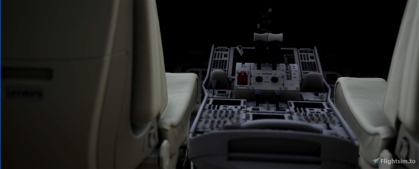 Boeing 787 Custom Cockpit Colours (White & Black with Beige & Grey accents)