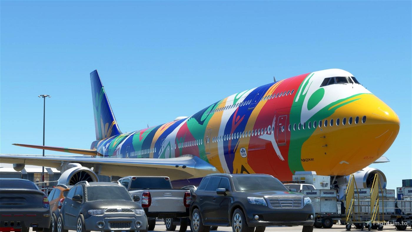 Boeing 747-8 South African Airways NDIZANI ZS-SAJ Flight Simulator 2020
