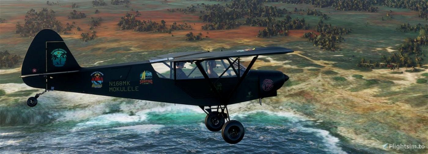Savage Cub N168MK Mokulele Hawaii v2.0 (compatible 1.12.13.0) Flight Simulator 2020