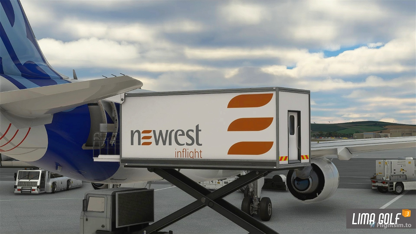 Newrest Catering Truck livery Flight Simulator 2020