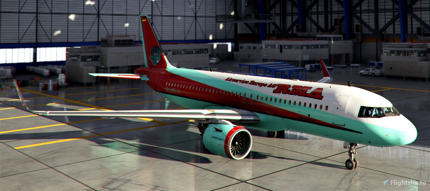 A 320 -- RMA - R&M Airservice Europe AG, Final Regular Liveries for Fly the World Flight Simulator 2020