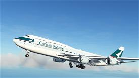 B747-8 Cathay Pacific B-HKU [8K] Image Flight Simulator 2020