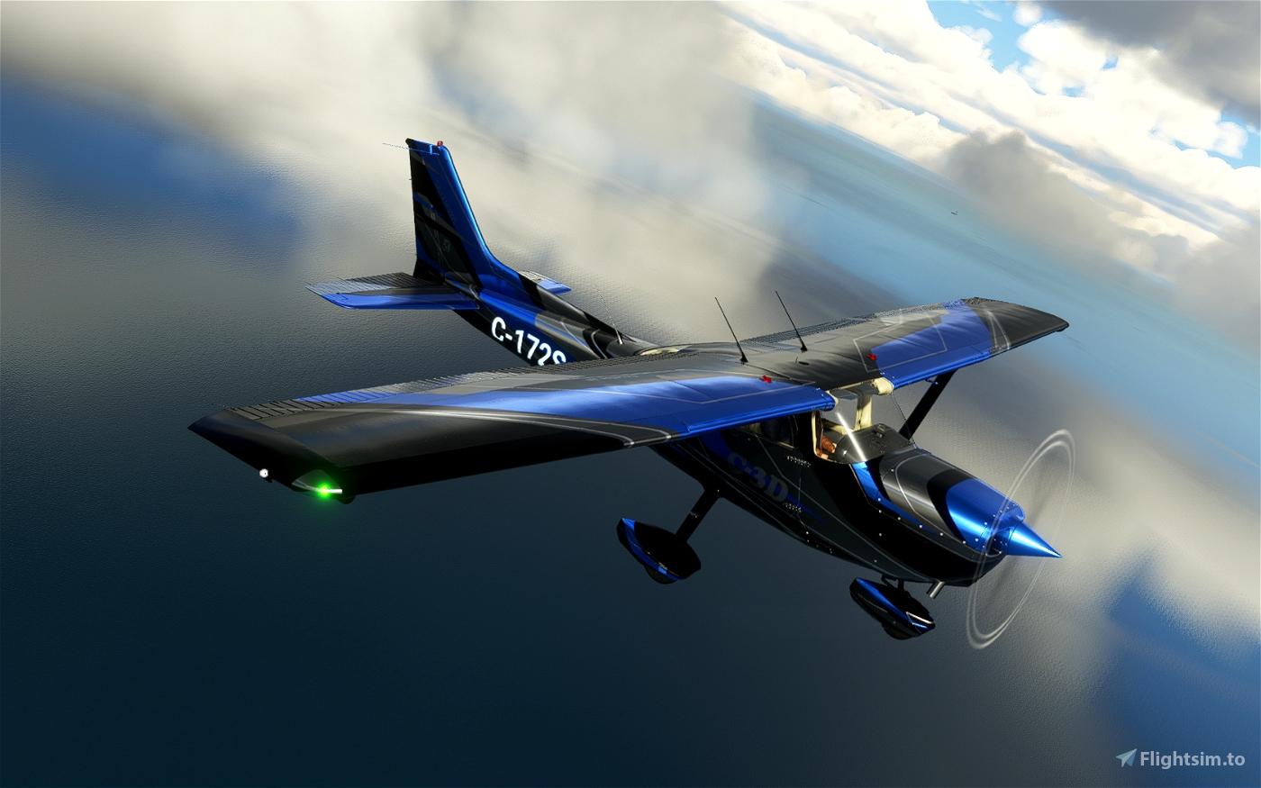 C172 Classic + G1000 C-3D Blue
