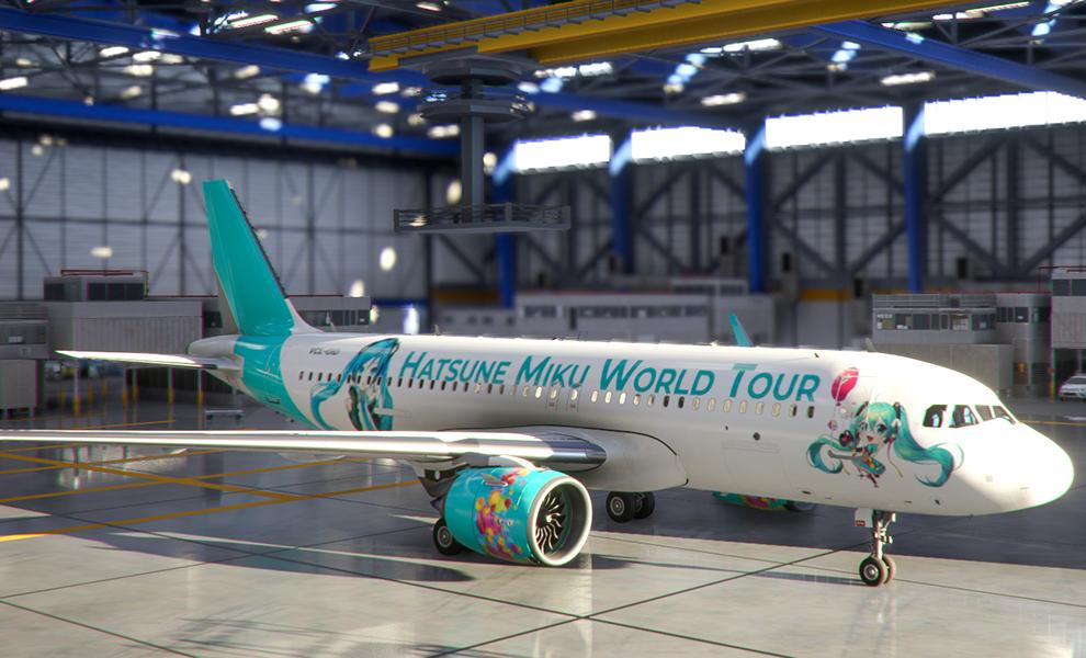 A320neo Hatsune Miku Vocaloid World Tour Flight Simulator 2020