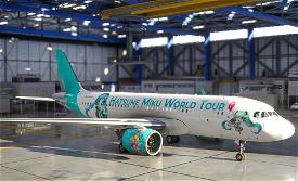 A320neo Hatsune Miku Vocaloid World Tour Image Flight Simulator 2020