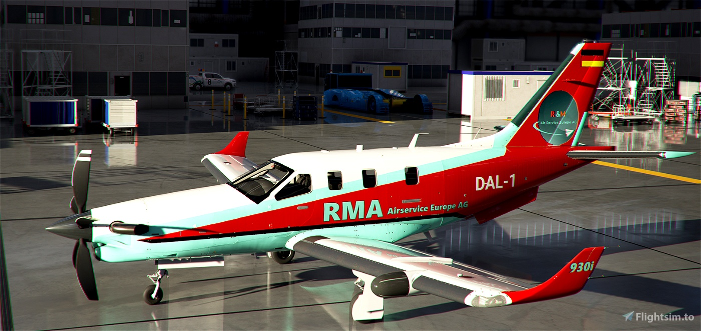 TBM 930 -- RMA - R&M Airservice Europe AG, Final Regular Liveries for Fly the World Flight Simulator 2020