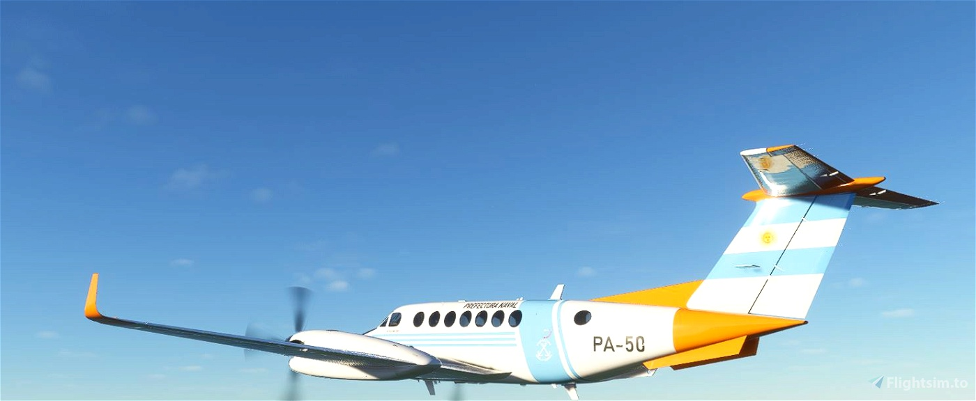 Prefectura Naval Argentina King Air 350 (fictional) Flight Simulator 2020