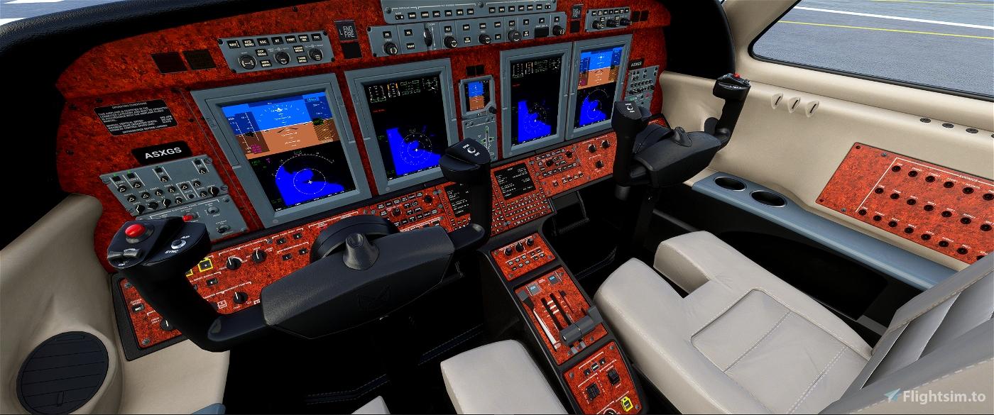 CJ4 panel, updated Flight Simulator 2020