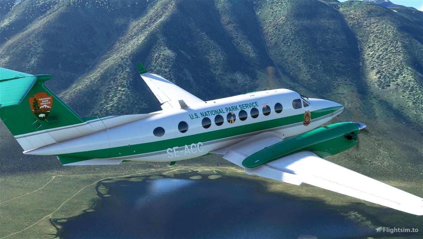 U.S. National Park Service Beechcraft King Air  Flight Simulator 2020