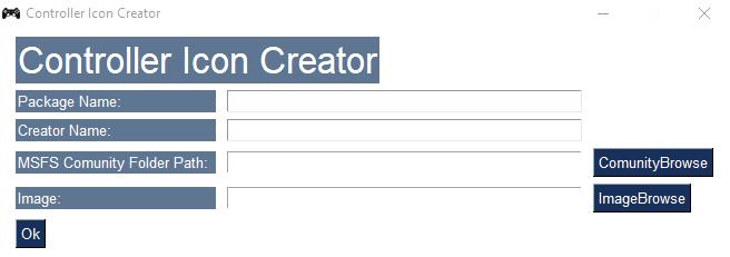 Controller Icon Creator Flight Simulator 2020