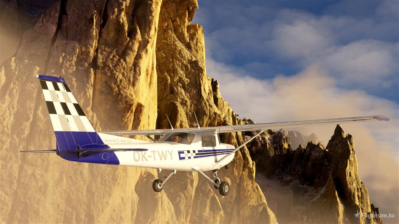 Cessna 152  F-Air OK-TWY (Czech) Flight Simulator 2020
