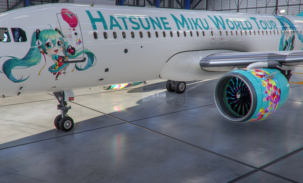 A320neo Hatsune Miku World Tour II