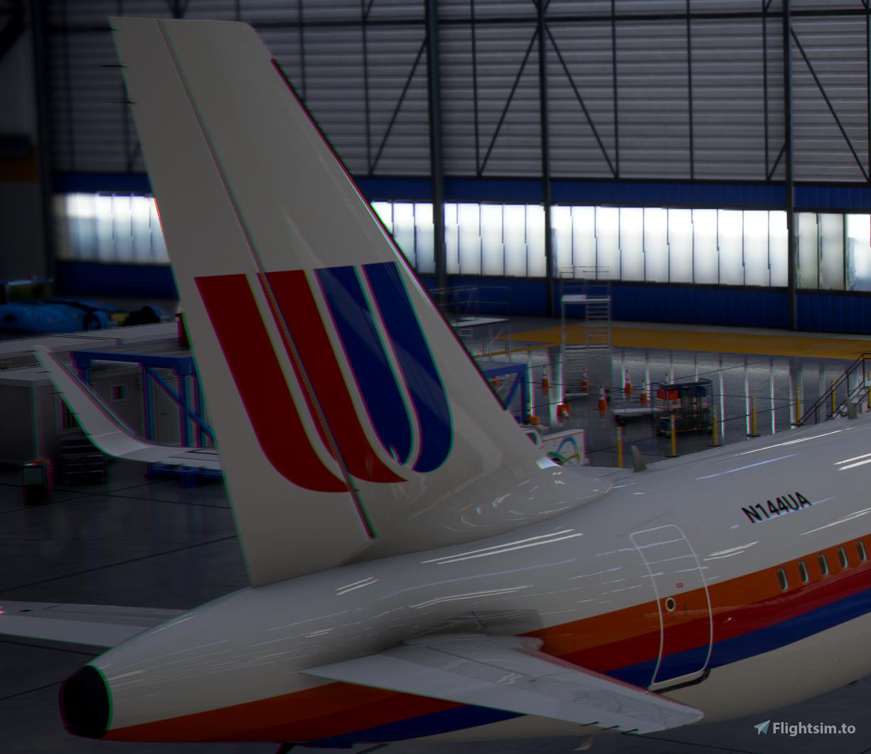 A320neo United Airlines 1980s [8k] Flight Simulator 2020
