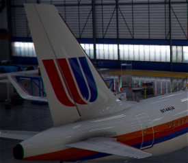 A320neo United Airlines 1980s [8k] Image Flight Simulator 2020