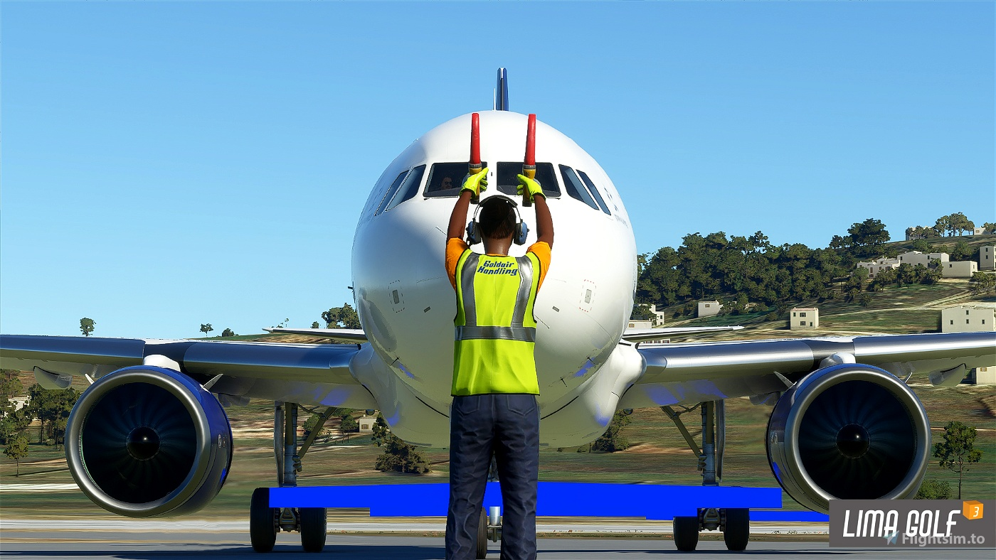 Goldair Handling Ground Services vest and uniform Flight Simulator 2020