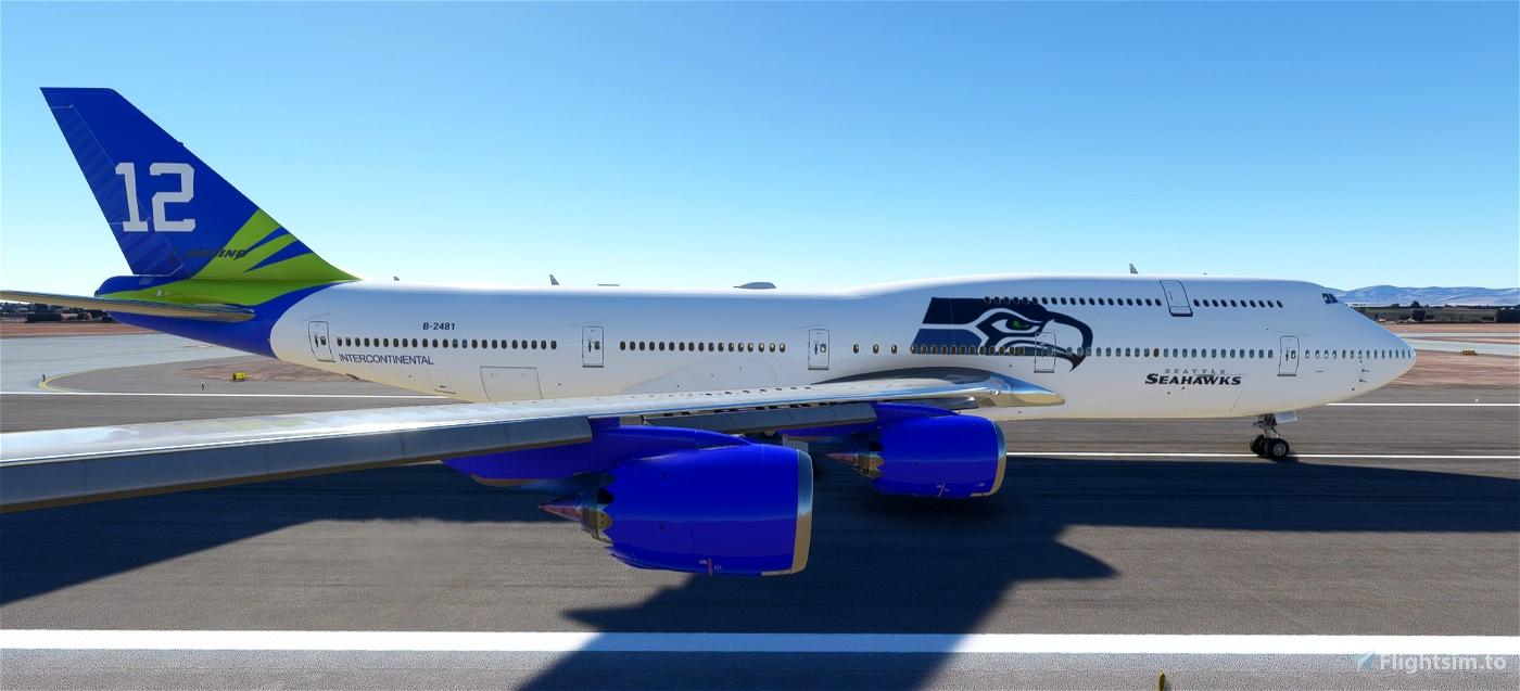 Seattle Seahawks NFL Flight Simulator 2020