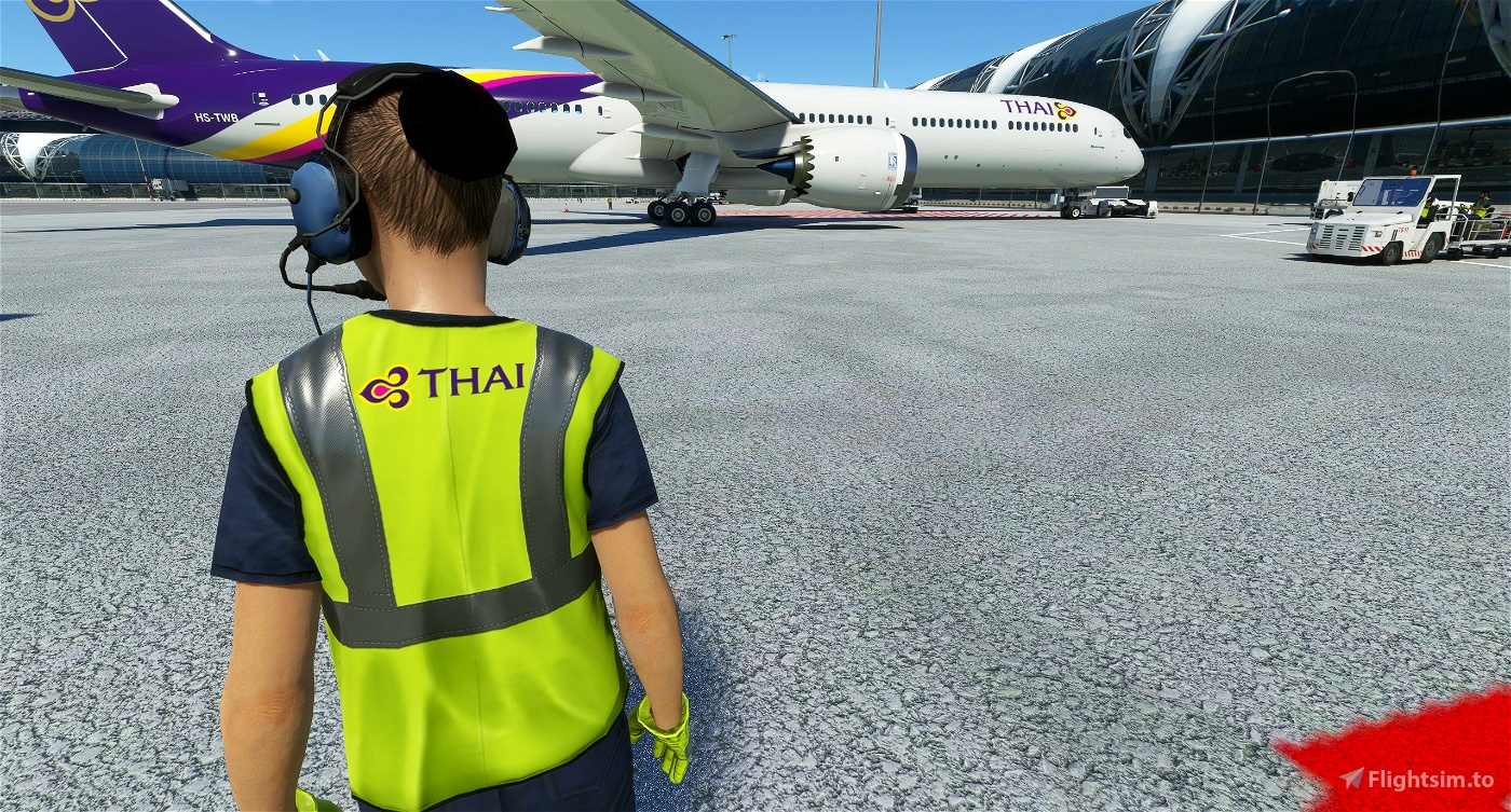 Thai Airways Ground Crew Textures