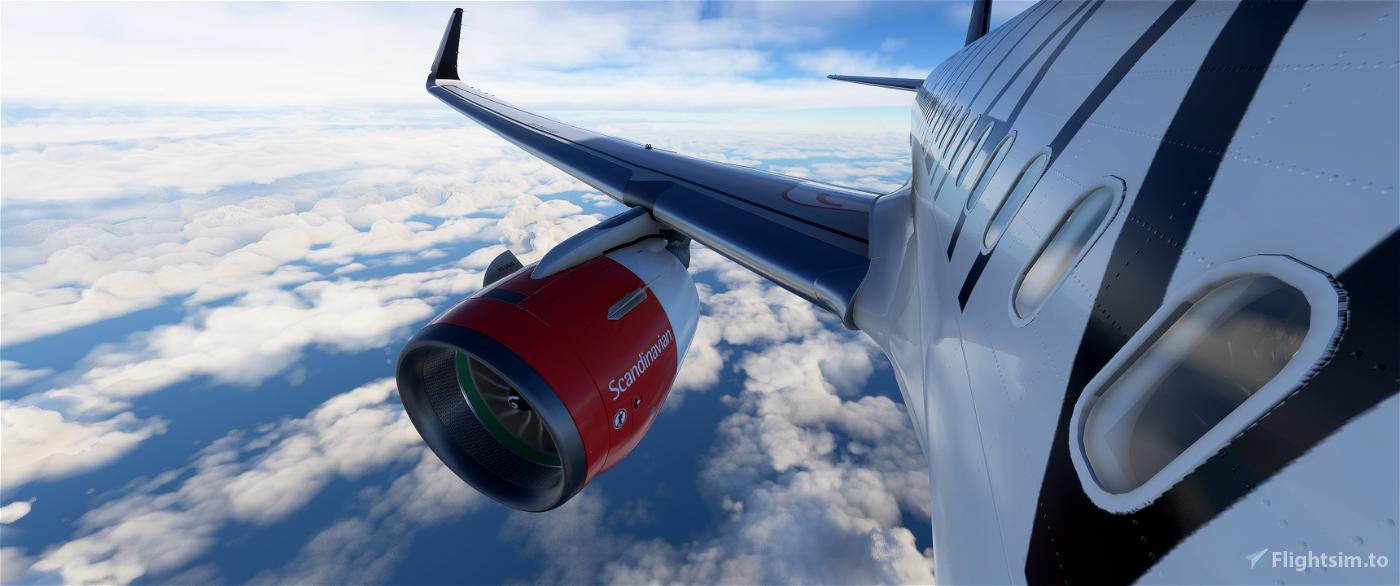 [8k] A320 Neo Scandinavian Airlines (SAS) - Star Alliance Livery Flight Simulator 2020