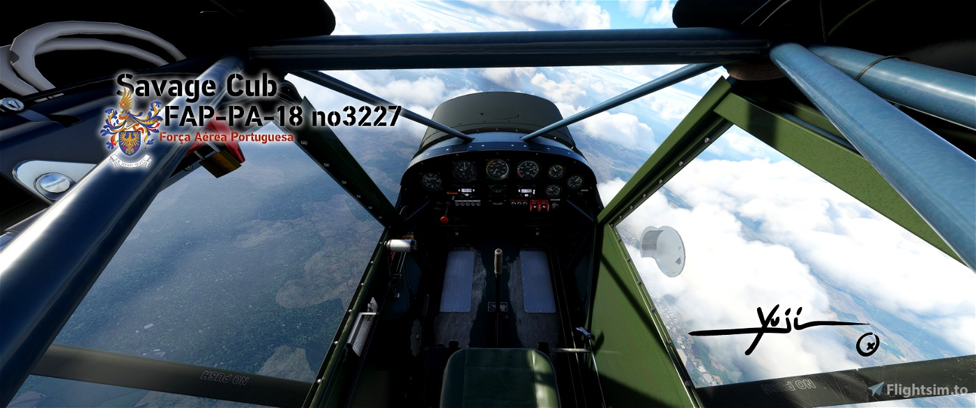 FAP PA-18 no3227 Flight Simulator 2020