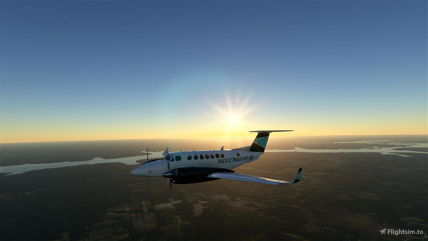 Pacific Mountain Air B350 (Fictional) Flight Simulator 2020