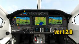 TBM930 PFD/MFD/SFD Color Updete! Image Flight Simulator 2020