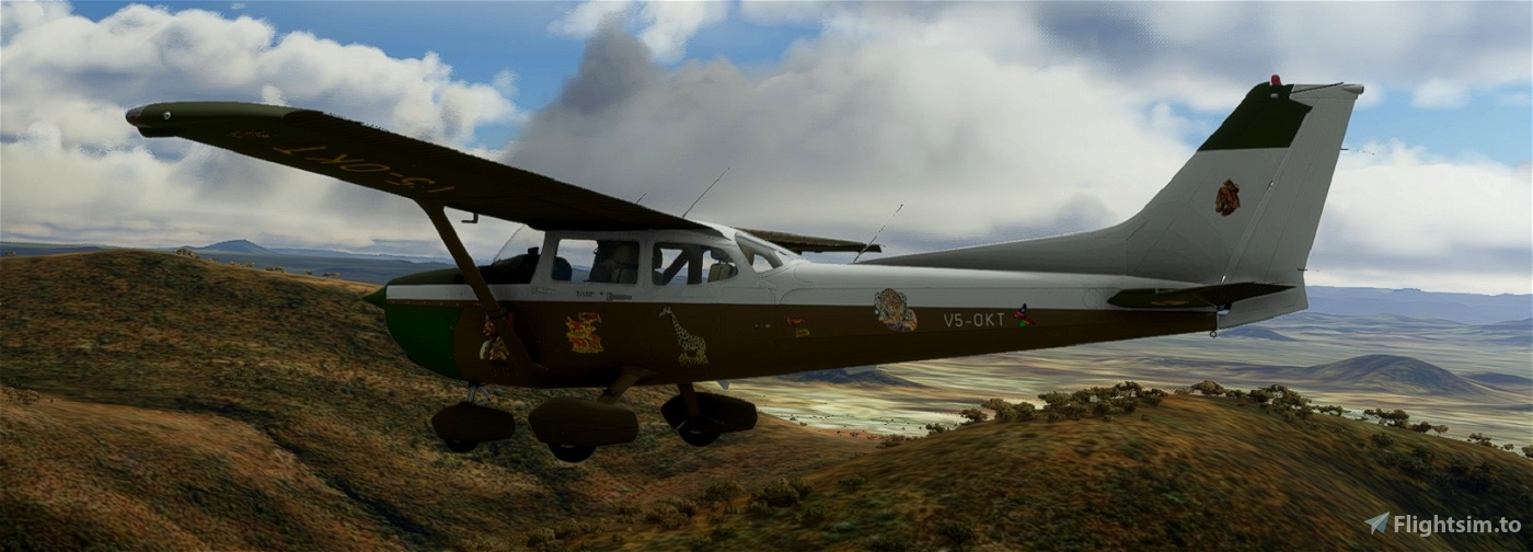 C172 SP Classic V5-OKT Namibia Flight Simulator 2020