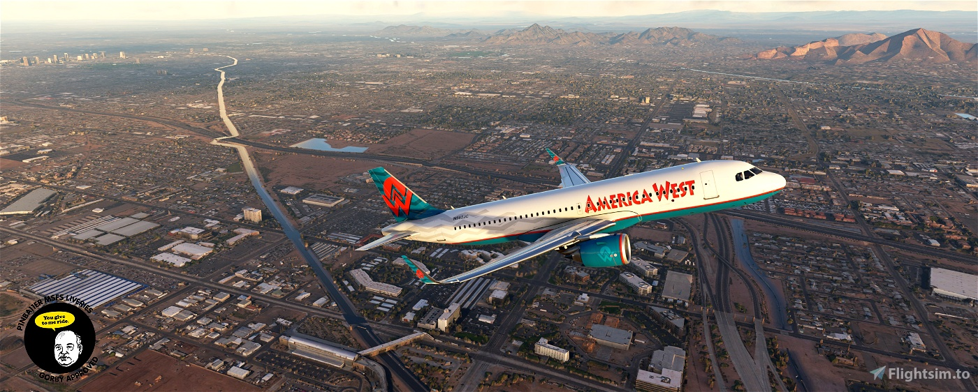 America West Airlines 90s A320neo [4K livery]