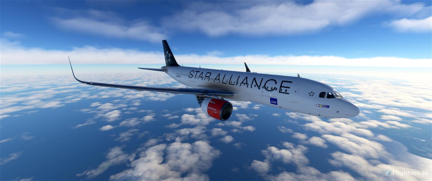 [8k] A320 Neo Scandinavian Airlines (SAS) - Star Alliance Livery