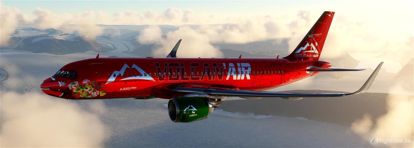 VOLCAN'AIR A320Noel XMAS 2020 Limited Edition Flight Simulator 2020