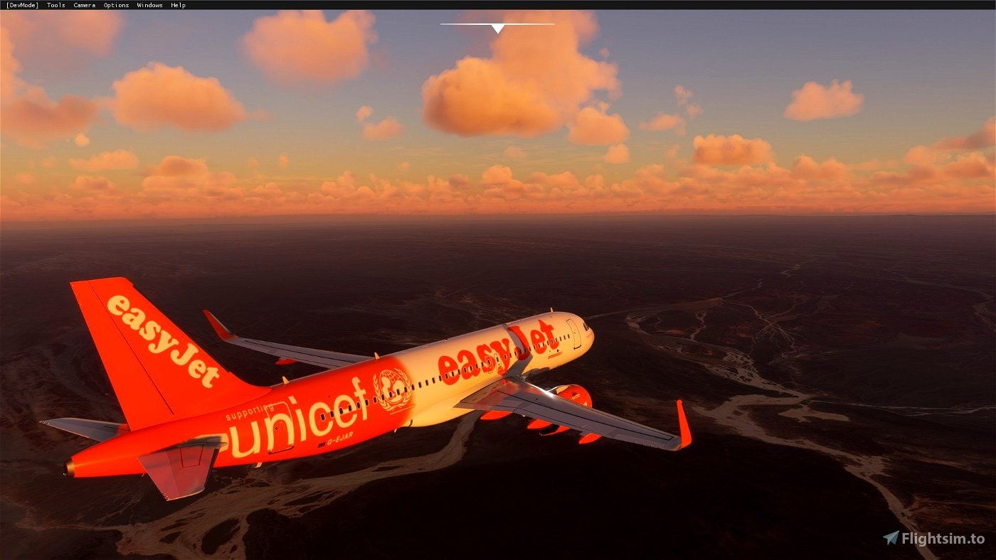 A320 NEO EasyJet Supporting Unicef
