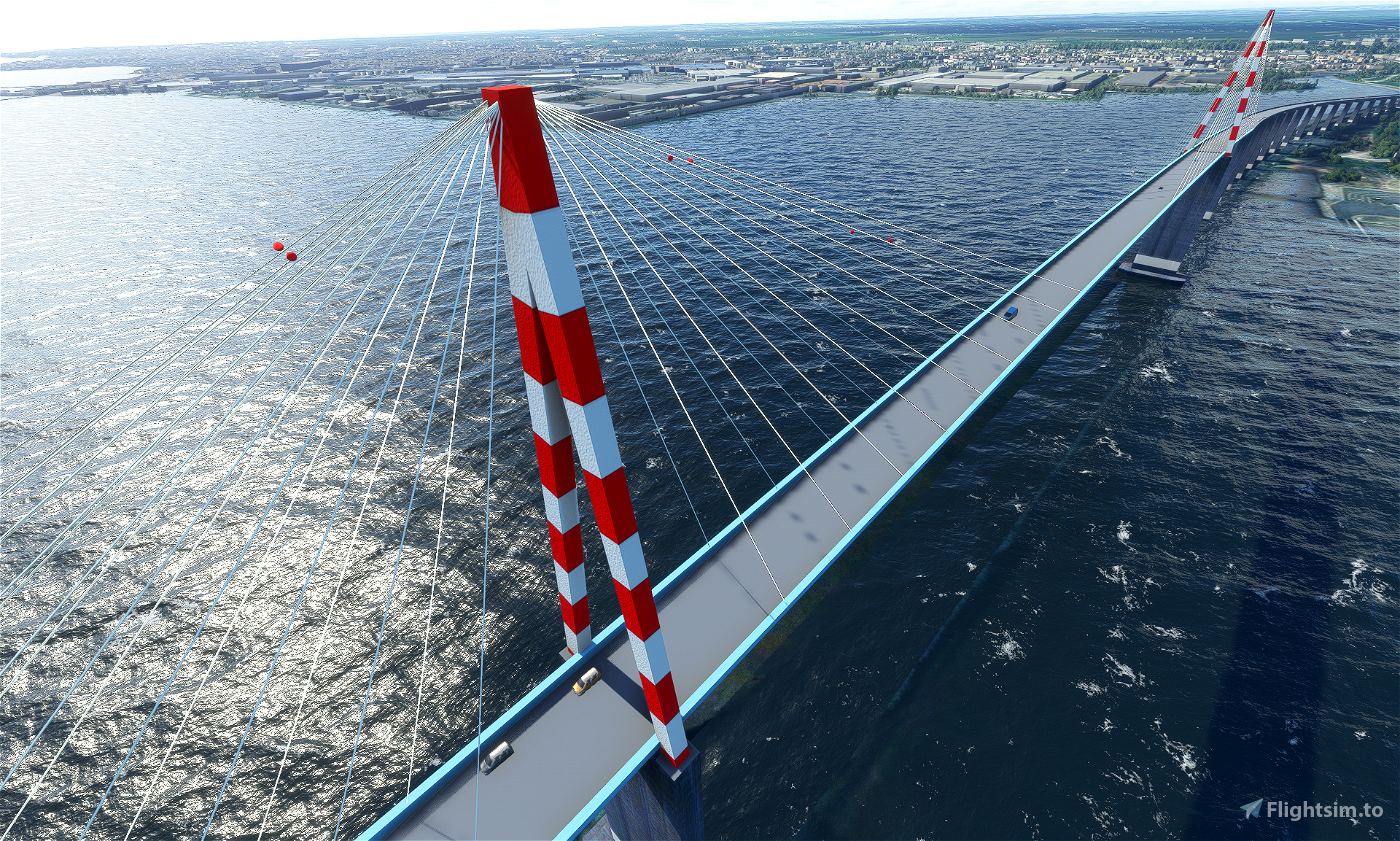 Pont de Saint Nazaire - Bridge of Saint Nazaire Flight Simulator 2020