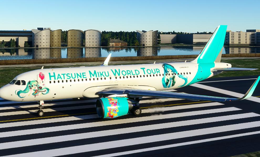 A320neo Hatsune Miku Vocaloid World Tour