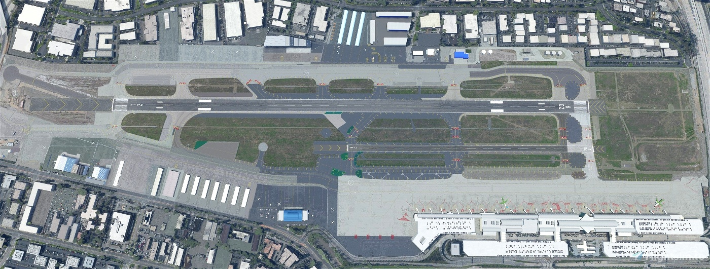 John Wayne International Airport, Santa Ana CA USA - KSNA V1.5 Flight Simulator 2020