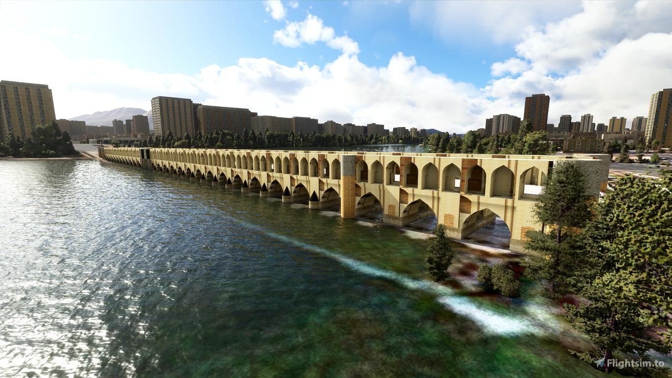 Iran - Isfahan Si-o-se-pol (Allahverdi Khan Bridge) Flight Simulator 2020