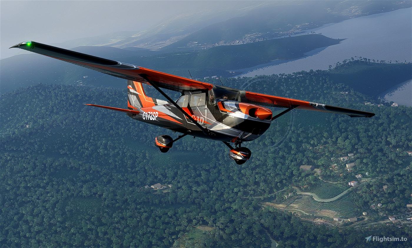 C172 G1000 C-3D Flight Simulator 2020