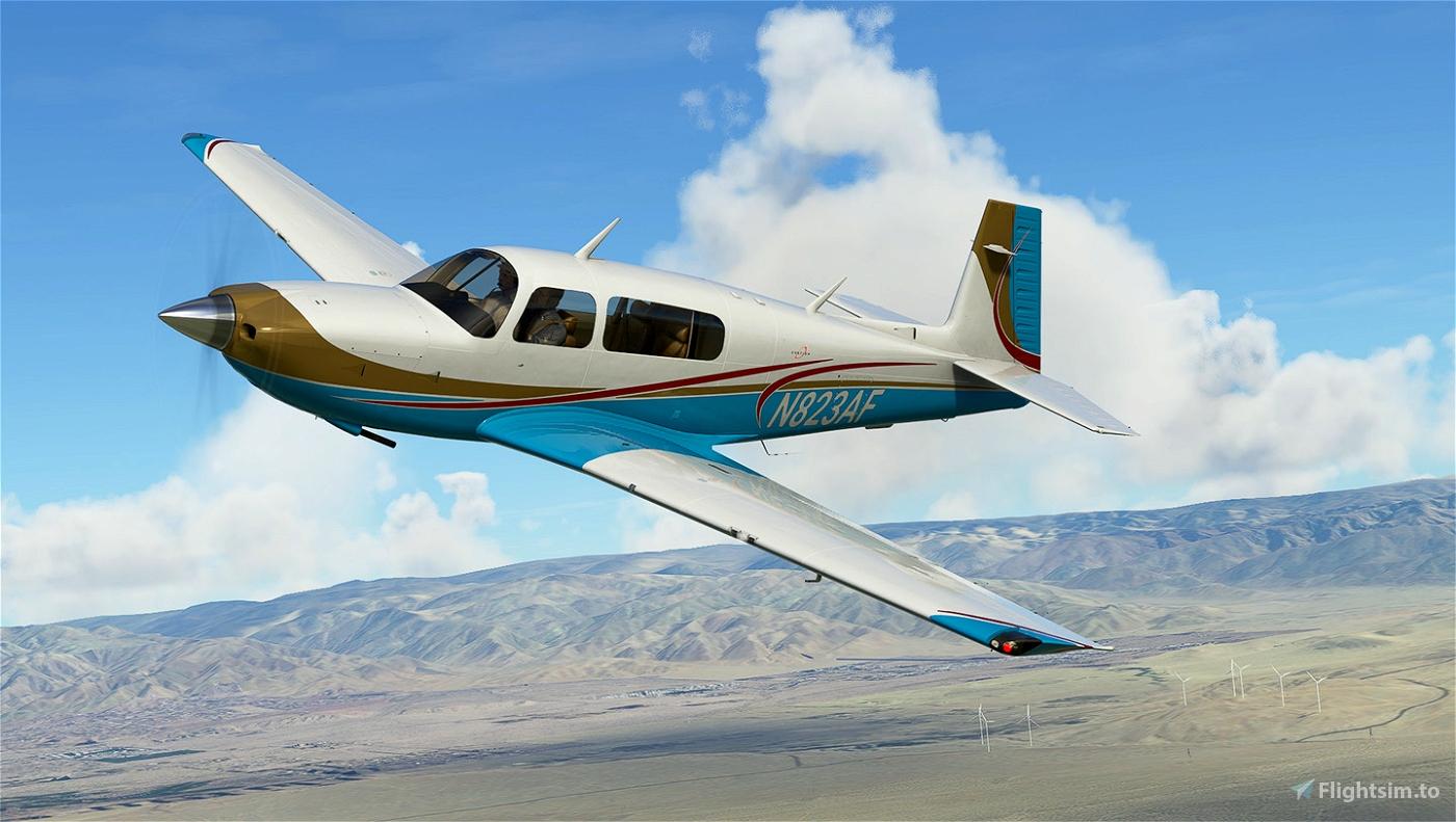 Retro Aqua Livery for Carenado Mooney Flight Simulator 2020