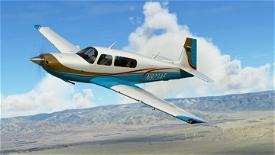 Retro Aqua Livery for Carenado Mooney Image Flight Simulator 2020
