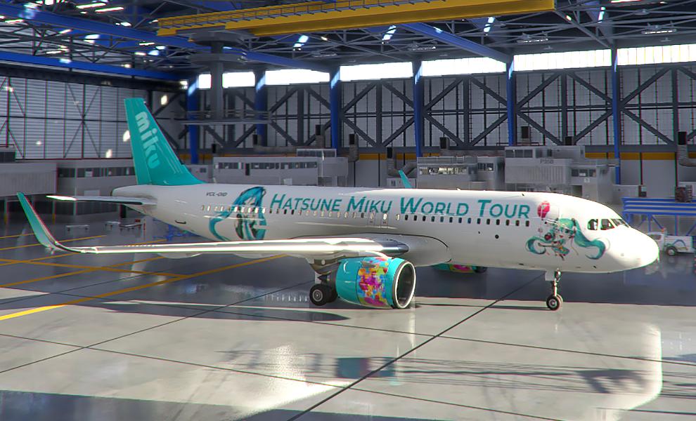A320neo Hatsune Miku World Tour II Flight Simulator 2020
