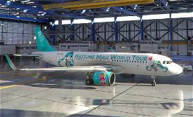 A320neo Hatsune Miku World Tour II Image Flight Simulator 2020