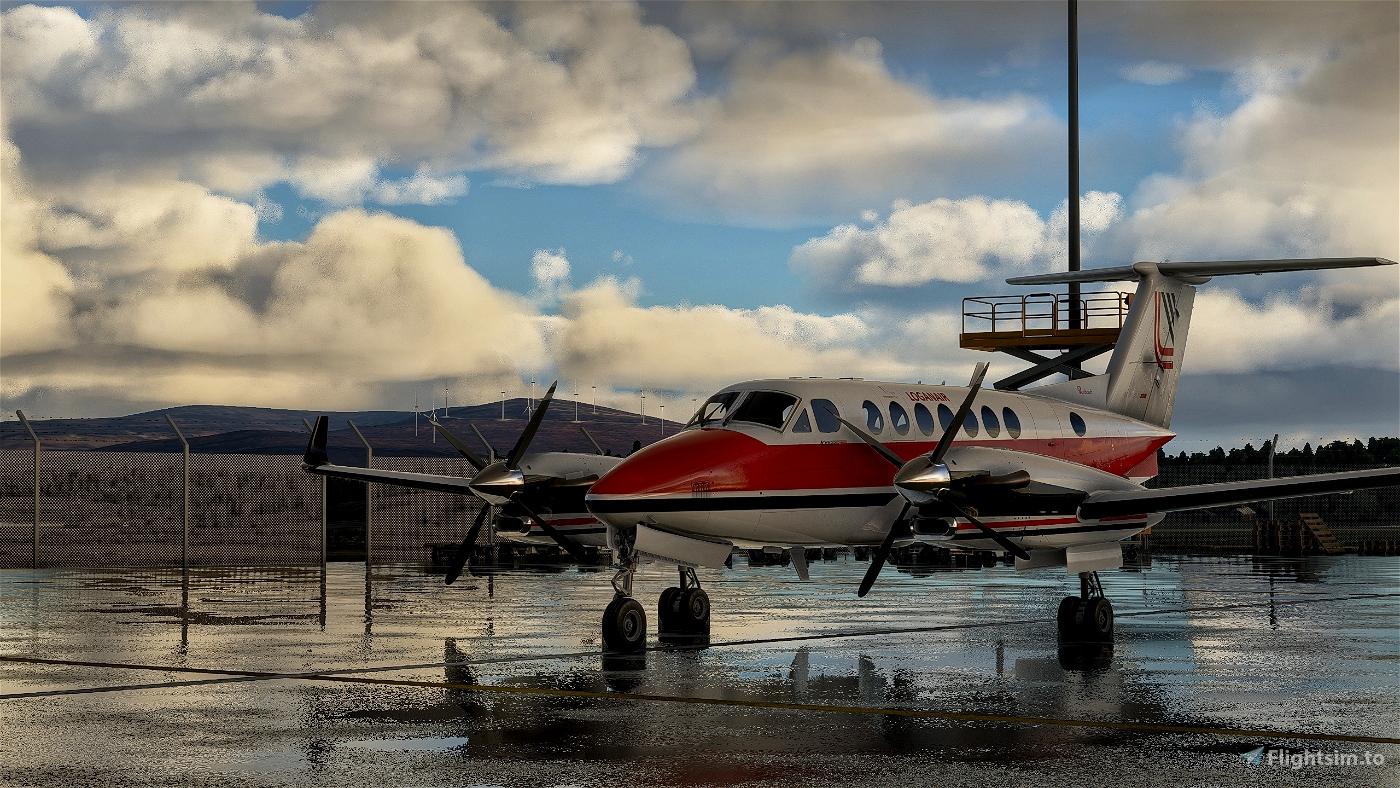 Beechcraft King Air350 Loganair 1980s Flight Simulator 2020