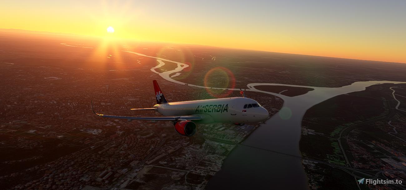 Airbus A320neo Air Serbia Flight Simulator 2020