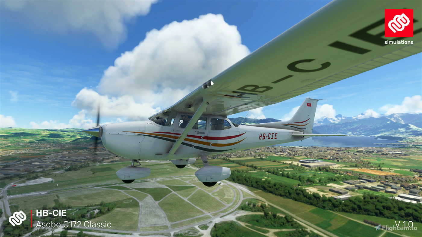 Asobo C172 (Classic) HB-CIE Motorfluggruppe Thun Flight Simulator 2020