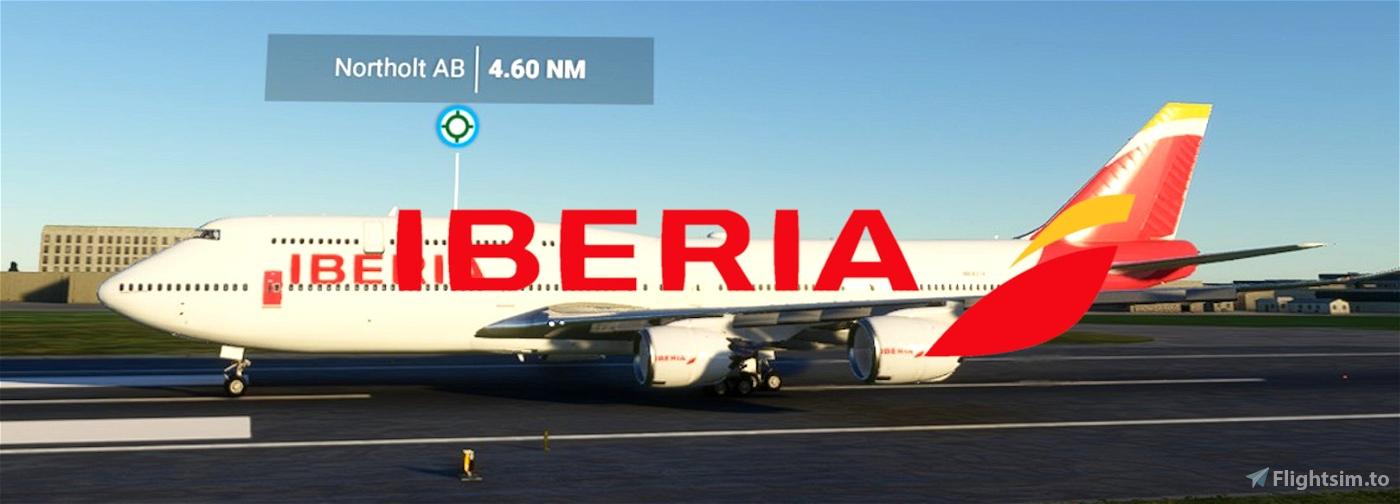 Iberia 747-8 Flight Simulator 2020