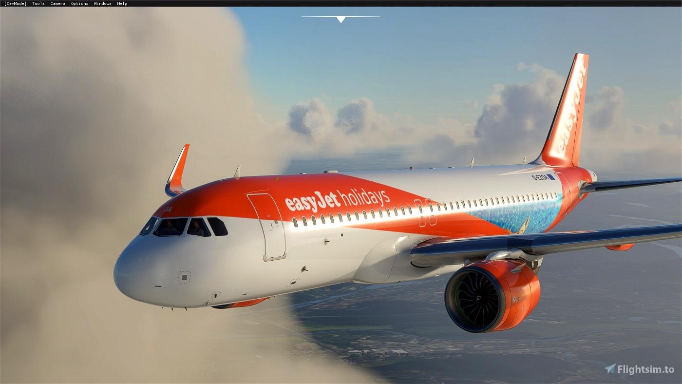 A320 NEO EasyJet Holidays Flight Simulator 2020